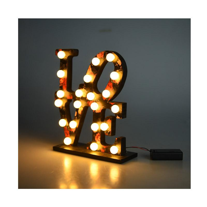 BiruTua Love Letter Light Lampu