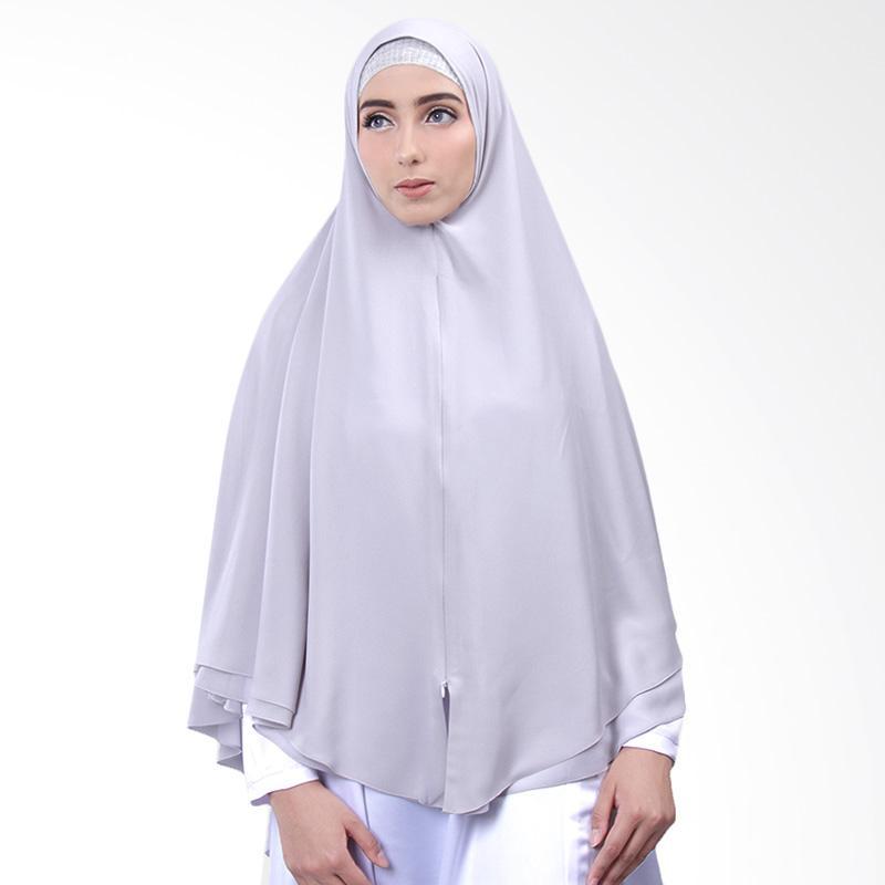 Cantik Kerudung Nazwa Khimar Jilbab Instan - No.3 Grey