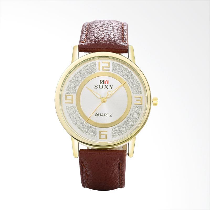 harga SOXY SOXY0053D Top Luxury Fashion Leather Quartz Dress Women's Watches Jam Tangan - Brown Blibli.com