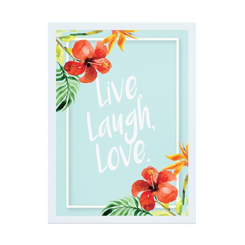 Cadrehome Live Laugh Love A4 Dekorasi Dinding