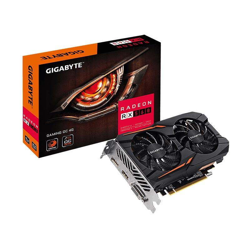 Gigabyte GV-RX560 Gaming OC 4GD Graphic Card