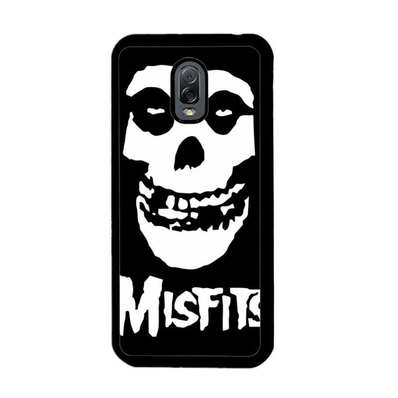 Flazzstore Horror Punk Rock Band Misfits Skull Z0506 Custom Casing for Samsung Galaxy J7 Plus