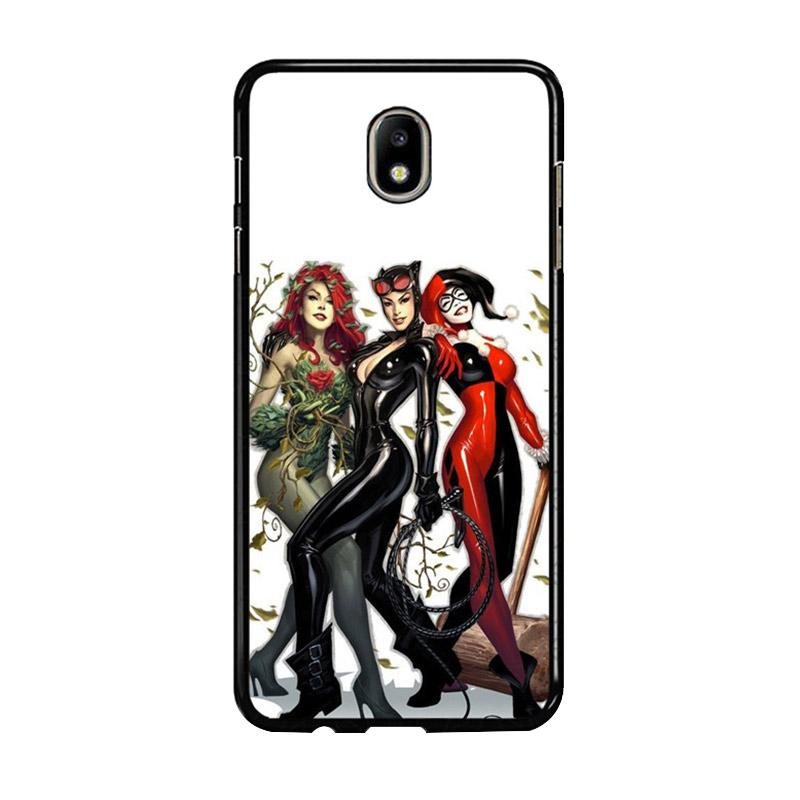 Flazzstore Poison Ivy Harley Quinn,Batgirl And Catwoman Z0225 Custom Casing for Samsung Galaxy J7 Pro 2017