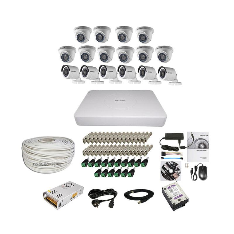 harga Hikvision THD 7116 16CH Paket Lengkap A CCTV [10 In + 6 Out/ 2MP/ 2TB/ 100 m] Blibli.com
