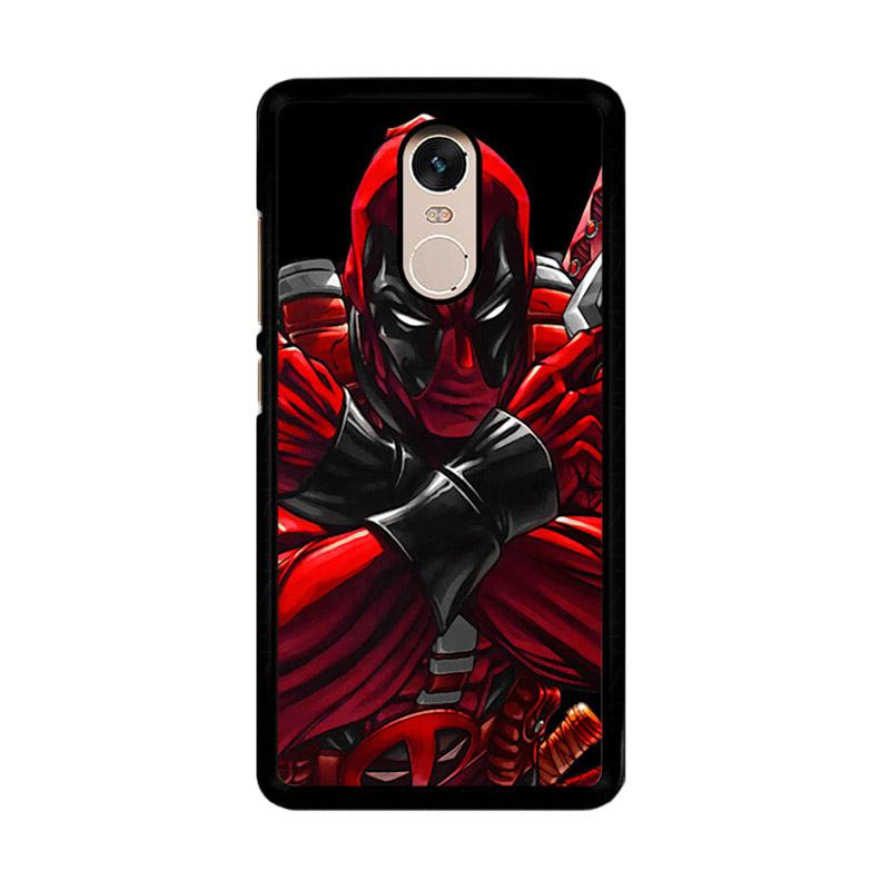 Flazzstore Deadpool Pose Z1213  Custom Casing for Xiaomi Redmi Note 4 or Note 4X Snapdragon Mediatek