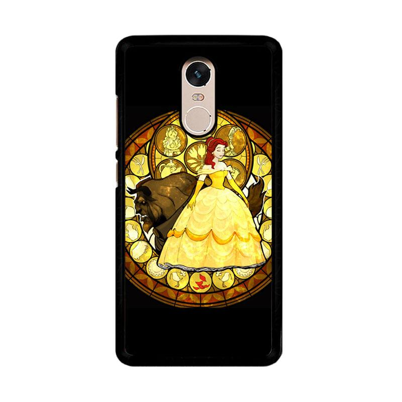Flazzstore Beauty And The Beast Stained Glass Z1422 Custom Casing for Xiaomi Redmi Note 4 Note 4X Snapdragon Mediatek