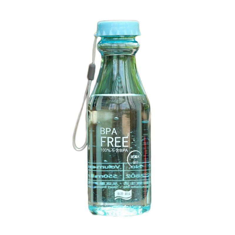 Hariku BPA Free Botol Minum - Biru [550 mL]