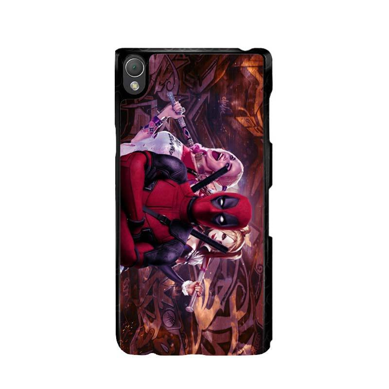 Flazzstore Harley Quinn and Deadpool O0692 Custom Casing for Sony Xperia Z3