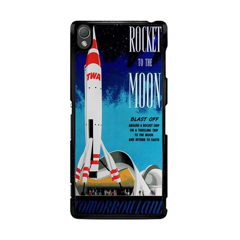 Flazzstore Disney Tomorrowland Rocket To The Moon Z0697 Custom Casing for Sony Xperia Z3