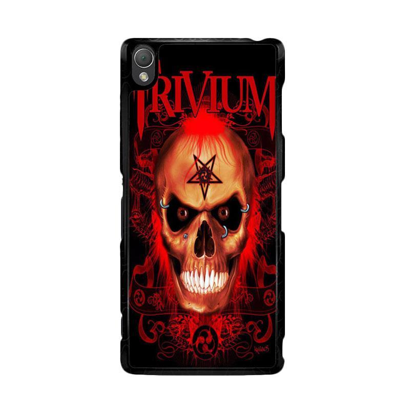 Flazzstore Trivium Red Skull Devil Black Metal Band Logo Z0765 Custom Casing for Sony Xperia Z3