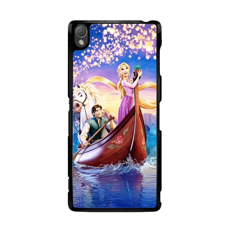 Flazzstore Disney Rapunzel Cover Book Z0075 Custom Casing for Sony Xperia Z3