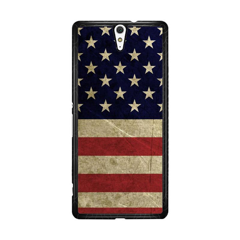 Flazzstore American Flag 3 O0232 Custom Casing for Sony Xperia C5 Ultra