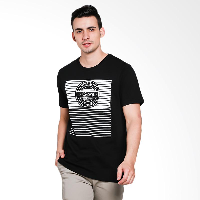 3SECOND 0401 Men Tshirt - Black
