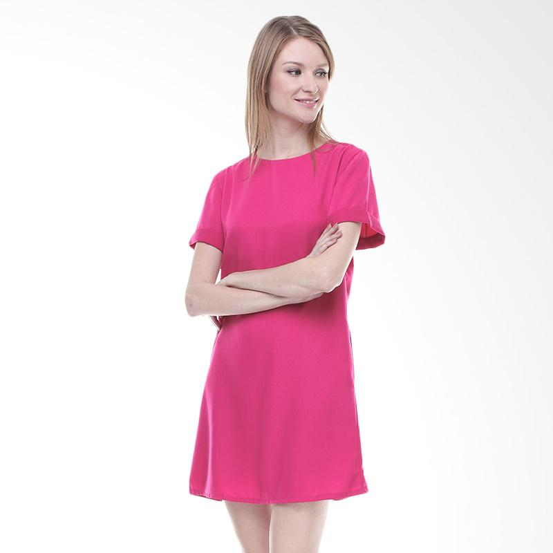 Halcyon Basic Dress - Fuchia