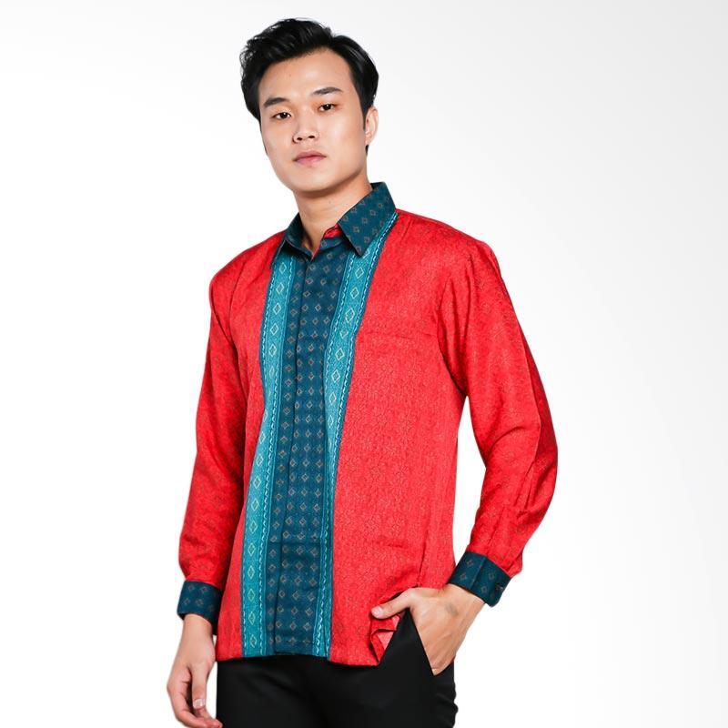 Blitique Abimayu Kencana Kemeja Batik Pria - Merah