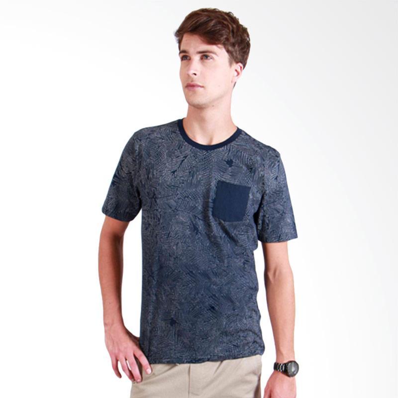 180 Degrees Palm Tee T-Shirt Pria - Navy