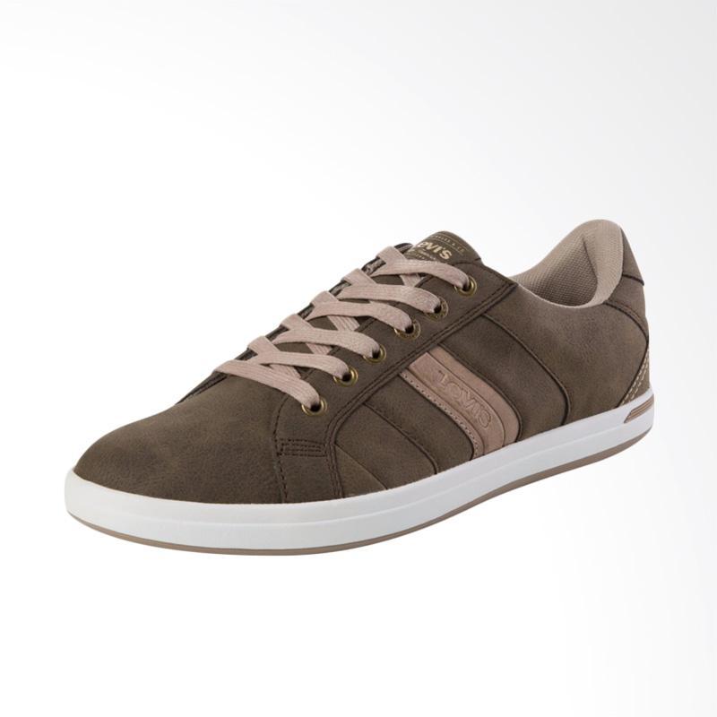 harga Levi's Thomas Derby Sneaker Sepatu Pria - Brown [ 38110-0012] Blibli.com