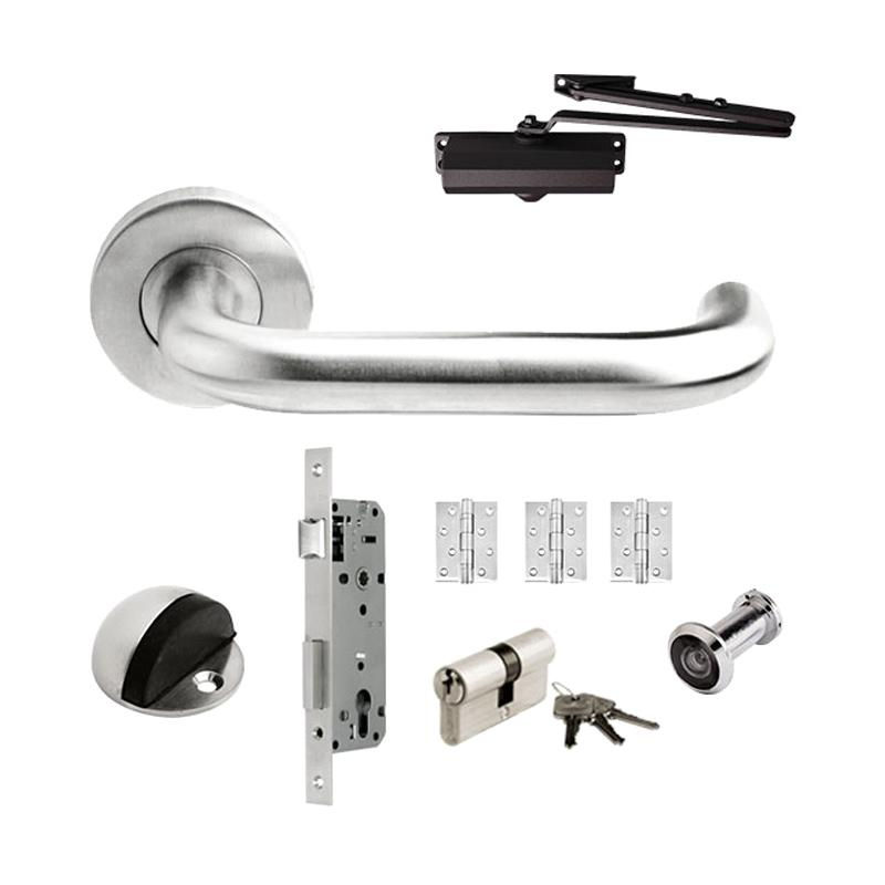 harga Dekkson LHTR 0016 19MM SSS Populer Set Handle Pintu [Mortise/ Engsel/ Door Closer] Blibli.com