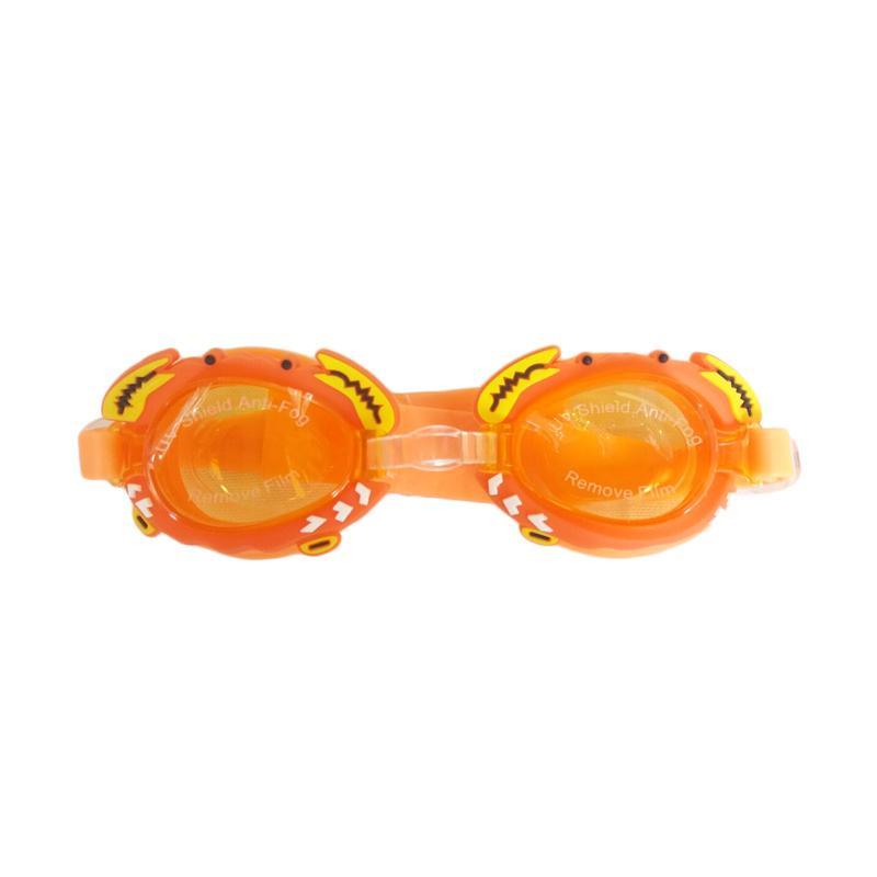 harga MOMO Swimming Goggles Kaca Mata Renang - Orange Blibli.com