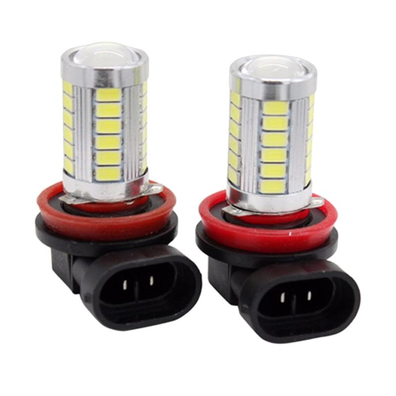 harga JMS Foglight H8 / H11 33 SMD 5730 Headlight LED Set Bohlam Lampu - Crystal Blue [1 Pair / 2 Pcs] Blibli.com