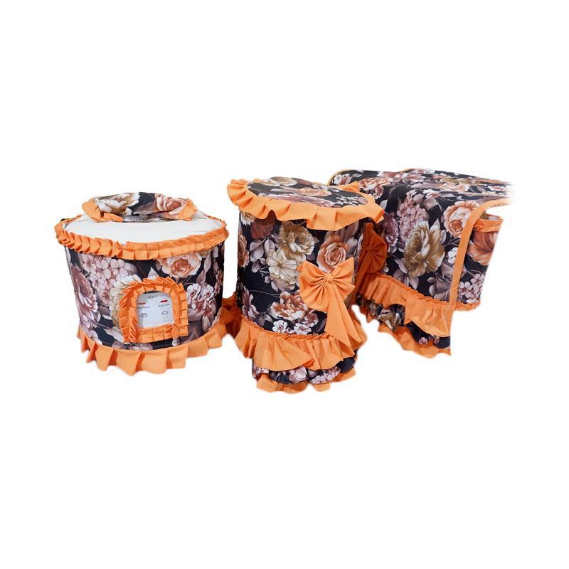 Shafiyyah.Sarban GKM-1 Set Kitchen Linen - Black Orange