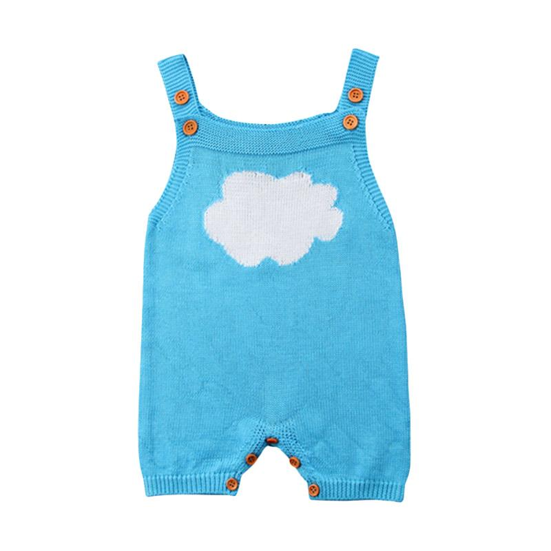 Abby Baby Knitted Cloud Jumpsuit - Air Blue
