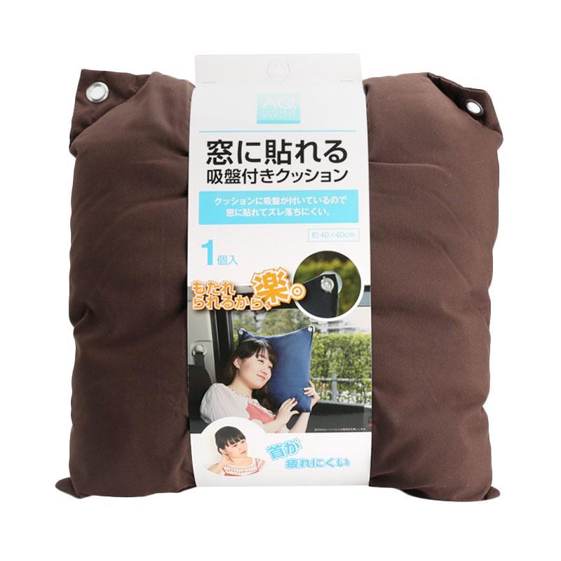 AQ Qc01 Window Cushion Suction Aksesoris Interior Mobil Brown Japan Import