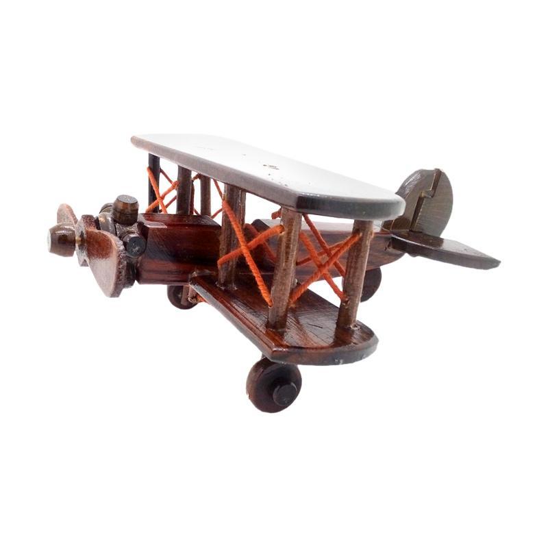 harga Kerajinan Jogja Kayu Miniatur Pesawat Capung Aksen Dekorative Blibli.com