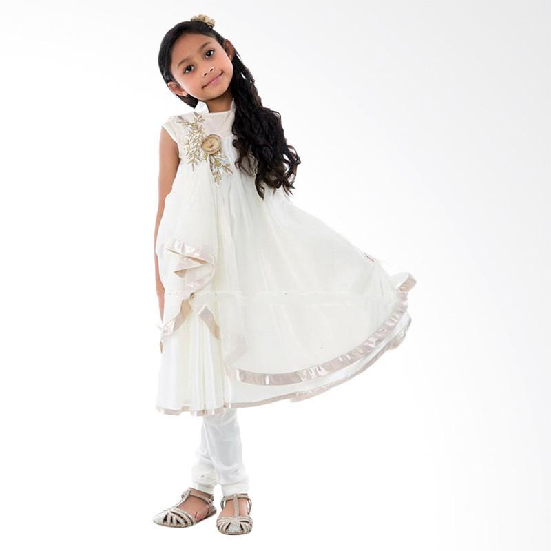 harga Belle Maison Chiffon Ivory Dress Set Woven Pants Baju Muslim Anak Blibli.com