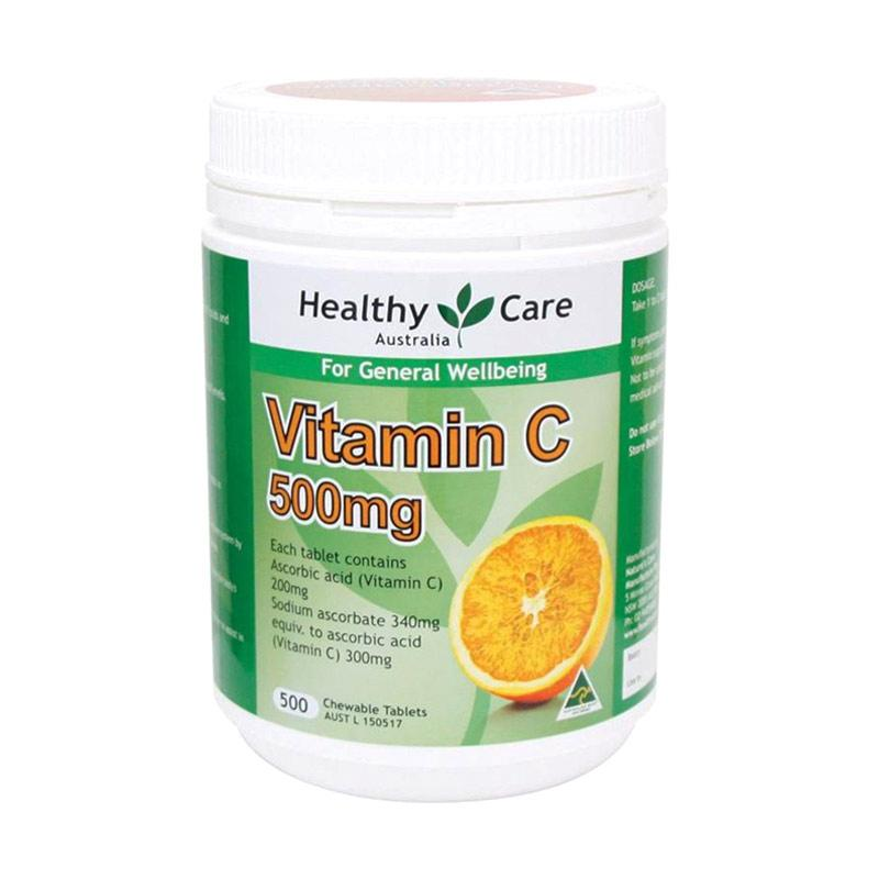 Jual Healthy Care Vitamin C 500mg 500 Tabs Chewable Online Januari 2021 Blibli