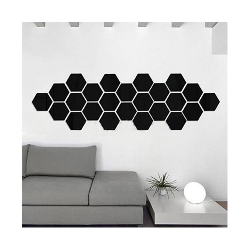 3D Mirror Wall Sticker Nordic style Wall Art Decals Removable Home Decor 10PCs