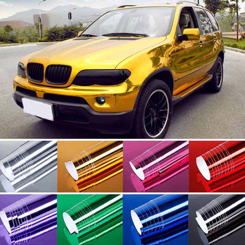 LuMon Chrome Mirror,Mirror Vinyl Wrap Car Sticker,Silver Chrome Film Bubble Free Decal Sheet for Car Styling