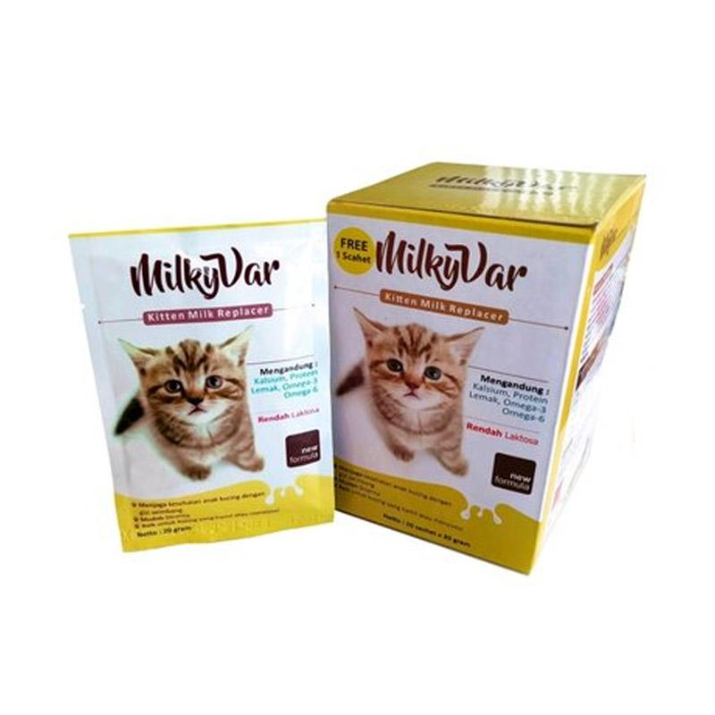 MilkyVar Kitten Milk Replacer Susu kucing 20 g Sachet