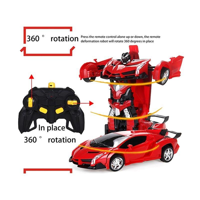 Jual H Ikea Rc Car 1 18 Model Remote Control Transforming Car Robot For Kids Toddlers Murah September 2020 Blibli Com