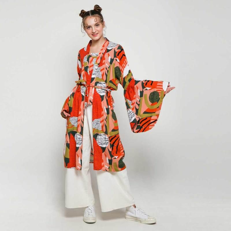 Calla The Label Behati Kimono Outer Wanita Colorful