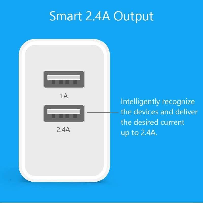 Jual Pisen Dual Usb Charger 1a 2 4a Fast Charging Eu Standard Original Port Cas Hp Android Iphone Online Februari 2021 Blibli