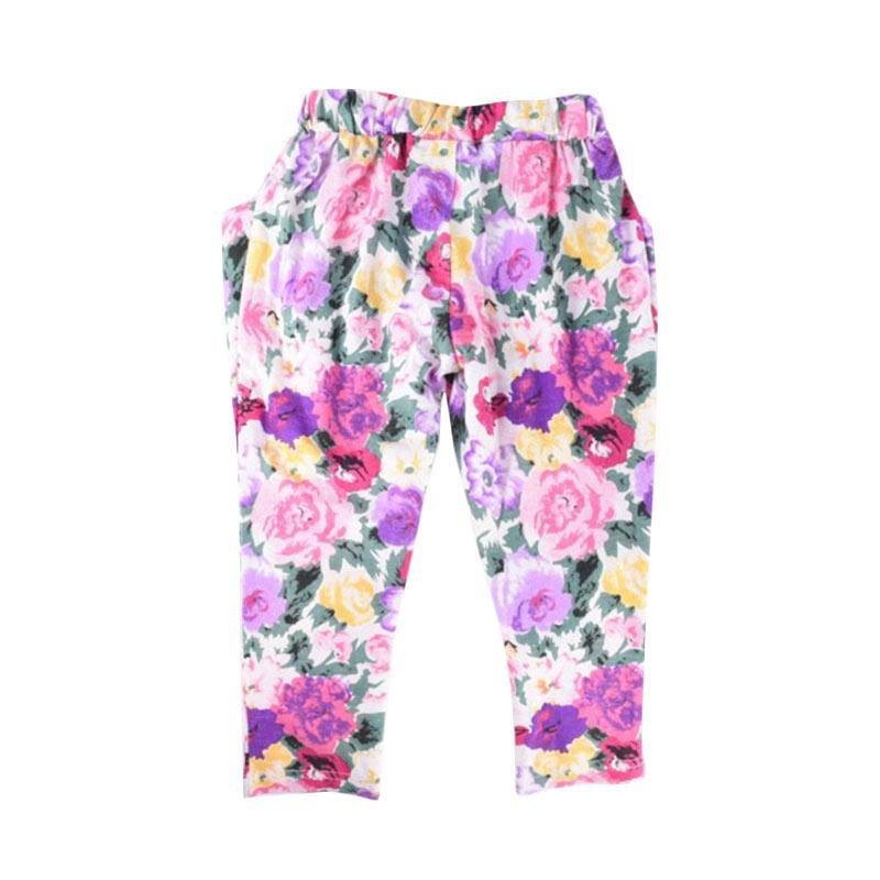 Cabriole 123- Adel & Audrey Flower Long Pants Anak
