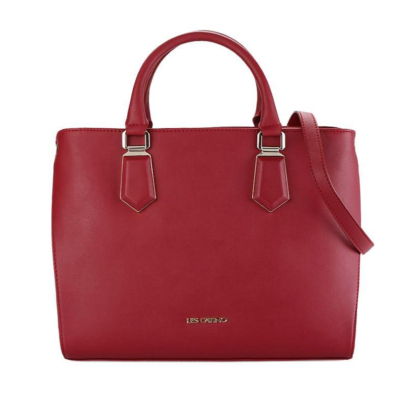 Les Catino Francis Hand Bag - Red [L]