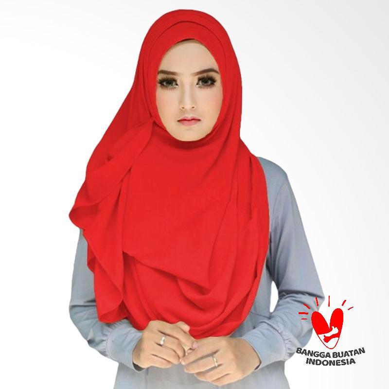 Milyarda Hijab Tazkia Kerudung Instan - Merah