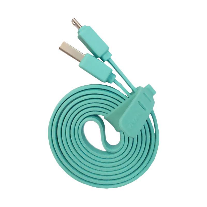 VIVAN CSM100 Micro USB Kabel Data - Biru [100 cm]