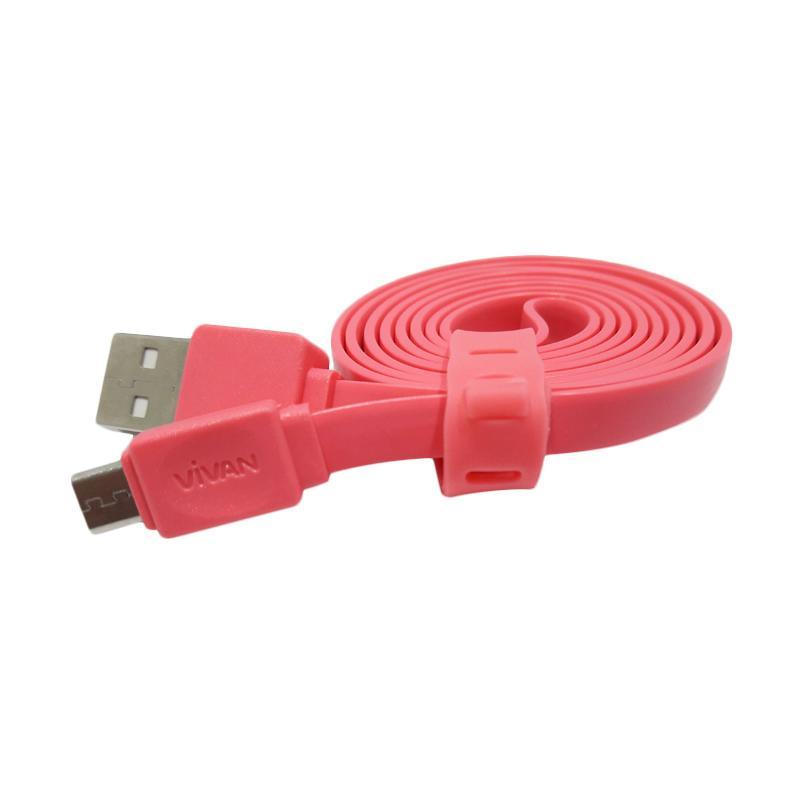 VIVAN CSM 100 Micro USB Kabel Data - Pink