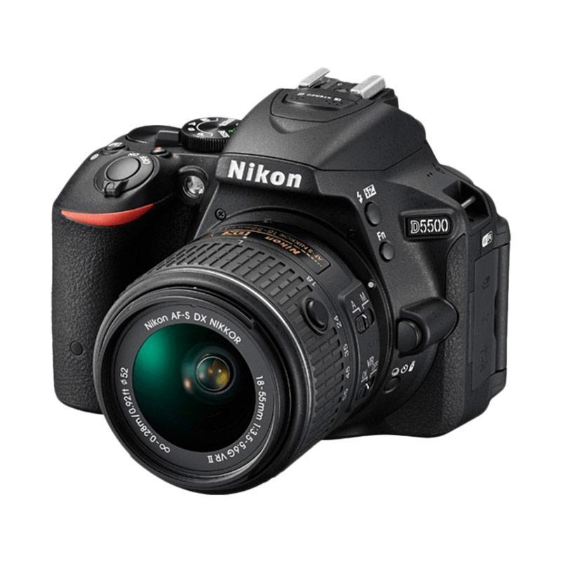 Nikon D5500 Lens Kit 18 55 VR II Kamera DSLR Hitam 24 2 MP