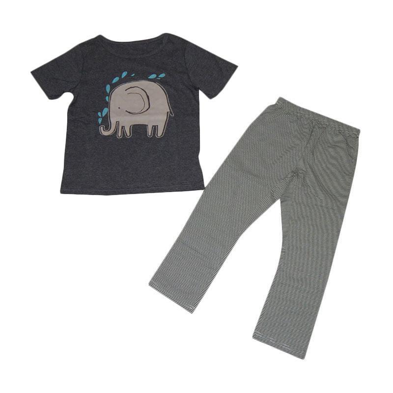 Wonderland Gajah Setelan Anak - Grey