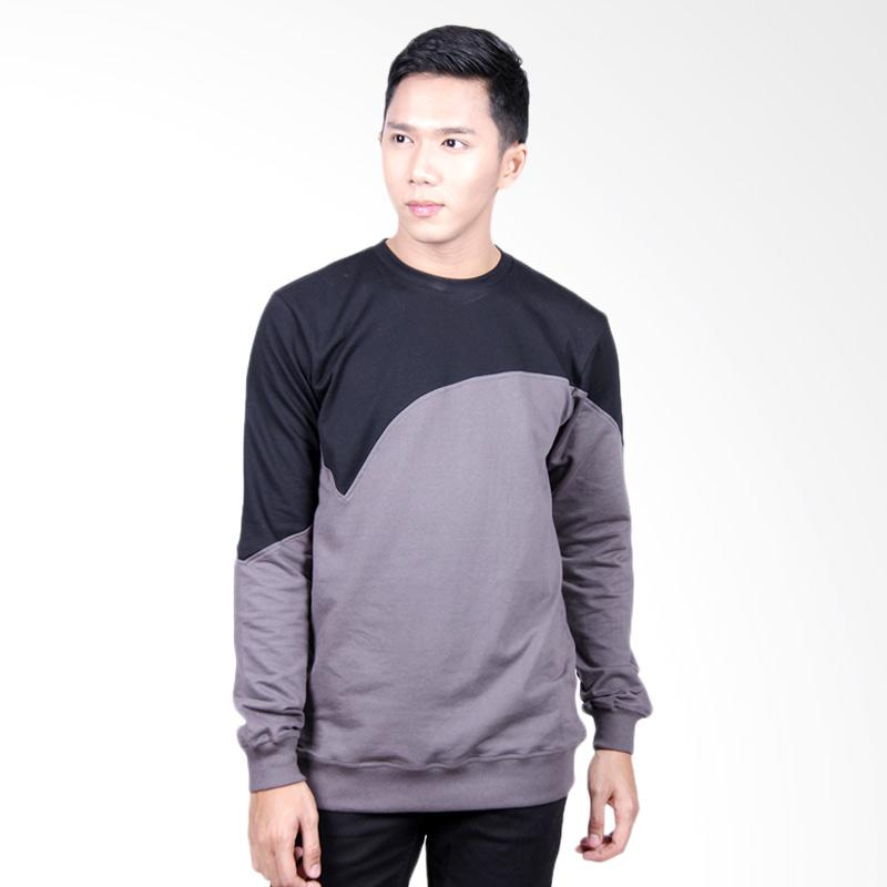 Word.O Entre Sweater - Grey Black