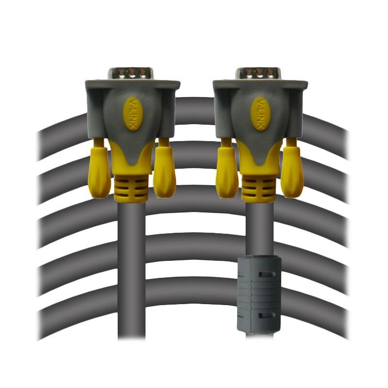 V-LINK Male to Male Kabel VGA - Abu-abu [3+6/ 5M]