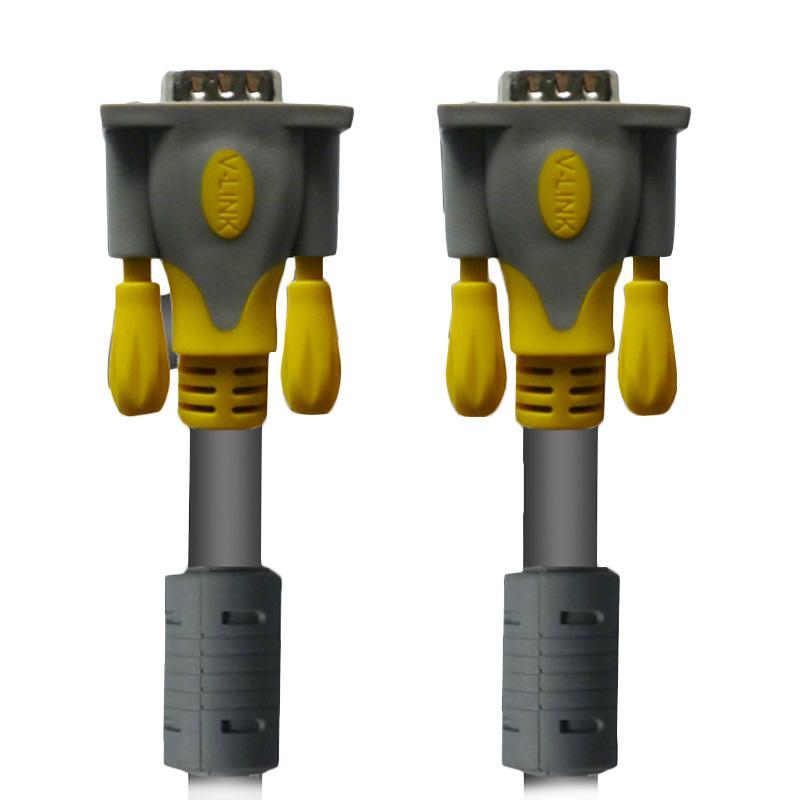 Rapid Vlink Male To Male Kabel VGA - Abu-abu [15 m/3+6]
