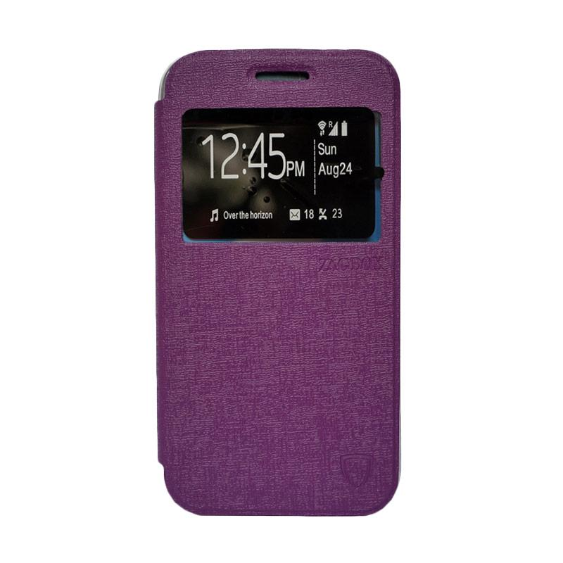 Zagbox Flip Cover Casing for Oppo R3 - Ungu