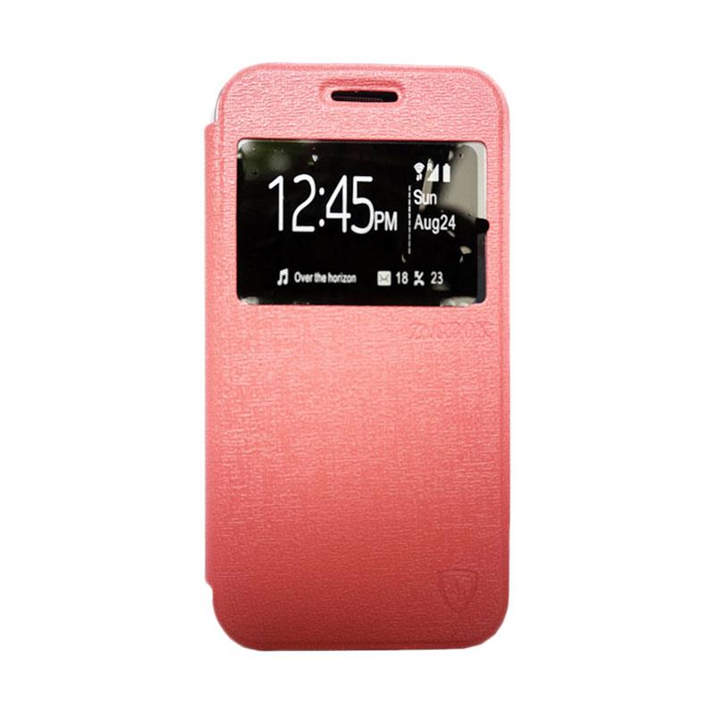Zagbox Flip Cover Casing for Vivo Y21 - Pink