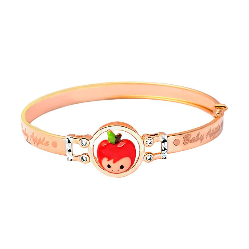 Apple Gold Kids Bangle - Gelang Emas Anak Kadar 37,5