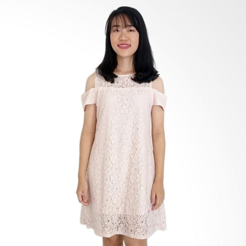 KULO Irina Lace Dress - Dusty Pink